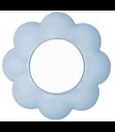 Intrerupator 16a alb-bleu floare