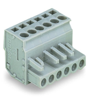 1-conductor female plug; angled; 2.5 mm²; Pin spacing 5 mm; 12-pole; 2,50 mm²; gray