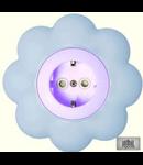Priza schuko 16a alb-bleu floare
