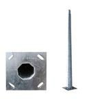 Stalp metalic octogonal cu flansa inaltime 4 metri
