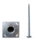 Stalp metalic octogonal cu flansa inaltime 8 metri
