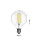 Led Bec Filament LED LAMP INCANDESCENȚĂ E27 G95 DIMM, 230V, 4W, E27, 2700K, 470Lm, 360 °, 25000h, IP20, Ø95х133, dimabil, Ra≥80