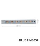 Spot LED cu montaj in pardoseala cu LED-uri TERRA SUBTERANE LAMP UB LINE657, 24V, 12W, 6000K, 1200Lm, 25 °, 30000h, IP67, 328x63x65, Ra≥80, 313х58х90