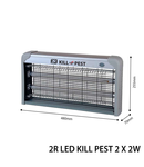 Lampa anti insecte cu LED-KILL PEST, 230V, 2x2W, LED-uri, IP20, 640x255x70