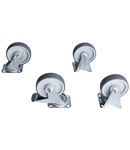 Set of casters 125mm