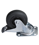 Swivel caster with brake 100mm