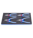 Set de clesti inel de siguranta in suport de plastic