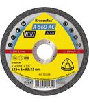 Discuri de debitare Kronenflex pentru Otel inoxidabil, Otel, Metale neferoase A 560 AC ACCU - Diametru 125mm, Grosime 1mm, Alezaj 22,23mm