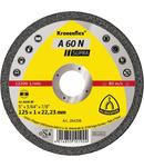 Discuri de debitare Kronenflex pentru Aluminiu A 60 N Supra - Diametru 125mm, Grosime 1mm, Alezaj 22,23mm