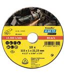Disc de debitare pentru Otel inoxidabil, Otel A 60 TZ Special set - Diametru 115mm, Grosime 1mm, Alezaj 22,23mm