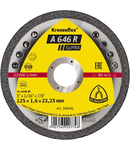 Discuri de debitare Kronenflex pentru Otel A 646 R Supra - Diametru 125mm, Grosime 1,6mm, Alezaj 22,23mm
