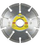 Discuri diamantate de debitare pentru polizoare unghiulare pentru Rosturi de sapa, Glet, Gazbeton DN 600 U Supra - Diametru 125mm, Alezaj 22,23mm, Latime segment 8mm