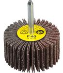 Perie abraziva cu tija pentru Otel inoxidabil, Metal universal KM 613 - Diametru 80mm, Grosime 50mm, Diametrul axului 6mm