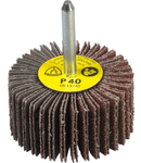 Perie abraziva cu tija pentru Otel inoxidabil, Metal universal KM 613 - Diametru 80mm, Grosime 40mm, Diametrul axului 6mm