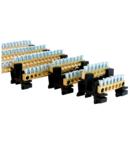 MSET42 = 2xBB42 Bara de alama 42x16mm2 +BB0 DIN rail adapter