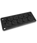 Capac Vizitare RMC17 IP65 RAL 9005 negru multigate V0