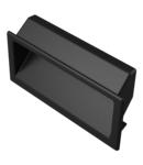 Accesoriu metalic Mâner tablou de plastic, pentru o grosime a ușii 0,8-1,6 mm