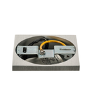 Corp iluminat TAVAN, UNO LUX aluminiu periat, patrat, cu LED-uri, 6W, 38 °, 3000K, including. Conducator auto,