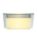 Corp iluminat TAVAN, GLASSA Plafon lumenul, A60 ,, sticla MATA patrat, max. 60W,