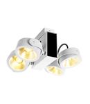 Corp iluminat TAVAN, Luminita TEC Kalu perete cu LED-uri alb interior Montat pe suprafata de perete de lumina sI TAVAN, quad alb / negru 24 ° 3000K,