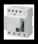 Intrerupator diferential tetrapolar 25a 300ma Siemens