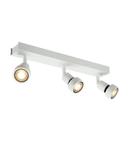 Corp iluminat TAVAN, PURI Wall Luminita GU10, alb cu trei capete, QPAR51, alb mat, max. 150 W, cu inel deco,
