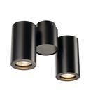 Corp iluminat TAVAN, ENOLA B de perete Luminita GU10, negru perete sI Plafon lumina, cu Doua capete, QPAR51, negru, max. 100 W,