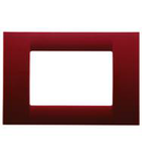 Placa ornament Virna - tehnopolimer gloss finish - 2 module- CLASSIC BURGUNDY - SYSTEM