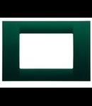 Placa ornament verde 8 module Gewiss Virna