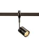 Iluminat decorativ pe sina, BIMA Melodii GU10, pata neagra pentru pista 240V EASYTEC II, QPAR51, singur capete, negru, max. 50W,