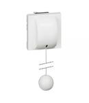 Intrerupator push buton antimicrobian  actionare cu snur 6A 250V 2 module