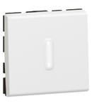 Intrerupator push buton antimicrobian 6A 250V  2 module cu led