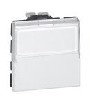Intrerupator push buton antimicrobian 6A 250V  2 module cu eticheta