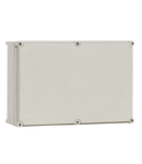 Cutie din poliester cu capac gri 360x180x171mm