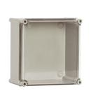 Cutie din poliester cu capac transparent 270x270x171mm
