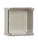 Cutie din poliester cu capac transparent 540x540x171mm