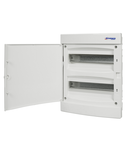 Dulap distrib. incastr. 2r-24UH, usa din plastic alb mat
