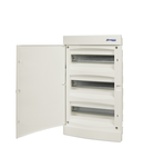 Dulap distrib. incastr. 3r-36UH, usa din plastic alb mat