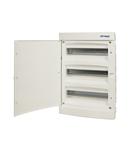 Dulap distrib. incastr. 3r-54UH, usa din plastic alb mat