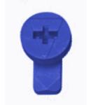 Zavor rotativ albastru pentru masca din plastic