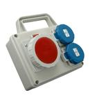 Panou de distributie ROSPG 1631D/S 1 x priza 5x16A (400V) 2 x prize schuko 16A (230V)