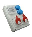 Panou de distributie ROS-I 1603A/S 1 x priza 5x16A (400V) 1 x priza 5x32A (400V)2xprize schuko 16A(230V)