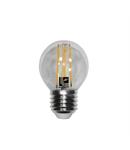 Bec sferic transparent cu LED COG E27 6W (≈72w) lumina calda 720lm L 74mm