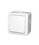 Aparataj PT IP54 intrerupator(buton) cu revenire 10A - alb