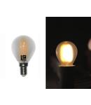 Bec sferic mat cu LED COG E14 6W (≈72w) lumina rece 720lm L 76mm