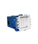 Spot patrat incastrat cu LED IP 54 9621 patrat 0.6W lumina albastra D 61mm L 61mm h 48mm