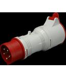 Adaptor fisa 5P - priza 4P SEZ cod A 3253/43 din fisa 5x32A (400V) in priza 4x32A (400V)
