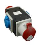 Cutie de conexiune industriala ROP 1653-2VZ/S 1 x fisa 5x16A (400V) 2xprize 5x16A(400V) 2prize schuko 16A(230V)