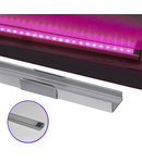 Profil Aluminiu PT. pentru banda LED & accesorii profil din aluminiu aparent -L:1m W:16mm h:6mm