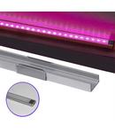 Profil Aluminiu PT. pentru banda LED & accesorii dispersor transparent - L:1m